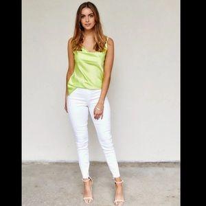Spanx White Distressed Skinny Jeans Size XS NWT